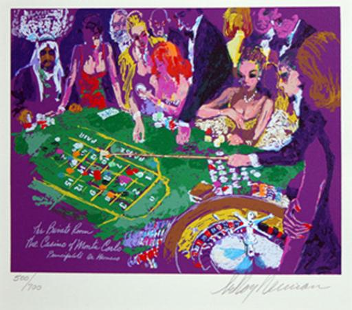 LeRoy NEIMAN - Print-Multiple - Salle Privee- Monte Carlo
