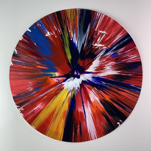 达米恩•赫斯特 - 水彩作品 - Circle Spin