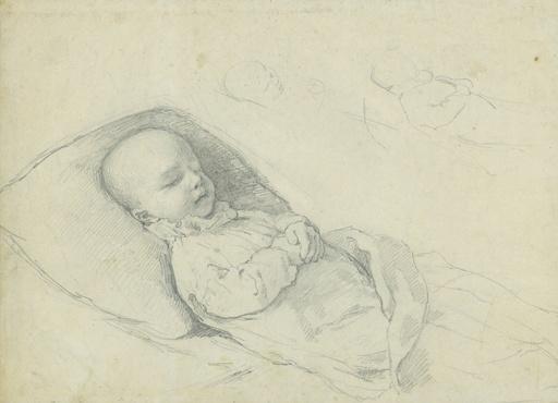 Gabriel Cornelius VON MAX - Drawing-Watercolor - Lukas Müller auf dem Totenbett