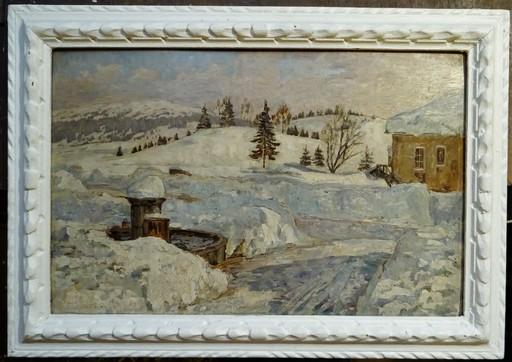 Philippe WALLET - Painting - Neige aux Rousses