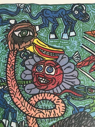 贡巴斯 - 版画 - L'autruche
