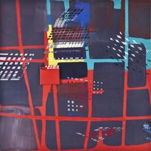 Bertille DE BAUDINIERE - Peinture - Harlem Carré Rouge