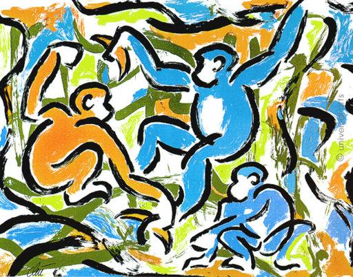 Jacqueline DITT - Estampe-Multiple - Monkeymovement 1/1 Originalgrafik