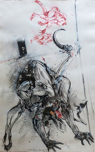Vladimir VELICKOVIC - Dessin-Aquarelle - Paysage