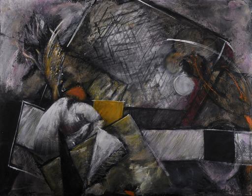 Réjane DE TASSIGNY - Painting - Rien ne peut échapper au silence du soir