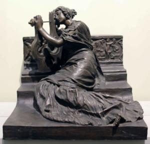 Ettore XIMENES - Skulptur Volumen - Elegia (1910)