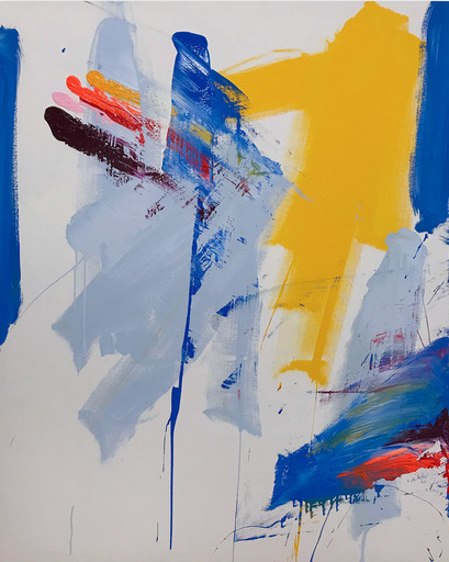 Tommaso FATTOVICH - Painting - Clockwork (Abstract painting)