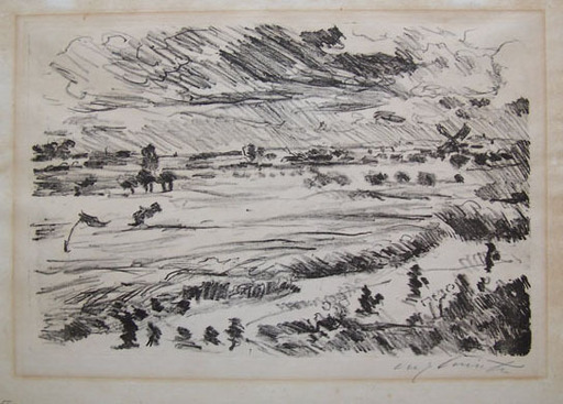 洛维斯·科林斯 - 版画 - Wide Landscape