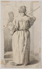 "Franz JOBST - 水彩作品 - ""Brother Karl in Studio"" by Franz Jobst , 1884"