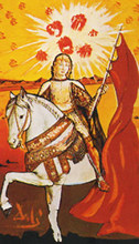 Salvador DALI - Dibujo Acuarela - Knight of Pentacles