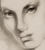 Tamara DE LEMPICKA - Dessin-Aquarelle - Tête de femme