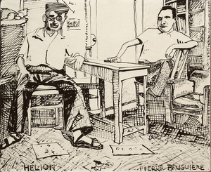 Red GROOMS - Dibujo Acuarela - Hélion et Pierre Brugière