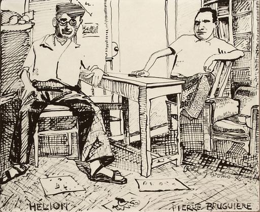 Red GROOMS - Disegno Acquarello - Hélion et Pierre Brugière