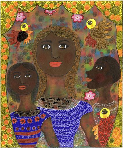 Claudine Marie Claire LOQUEN - Gemälde - Famille Malienne