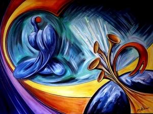 Didier ANGELS - Peinture - Le Maître de cérémonie