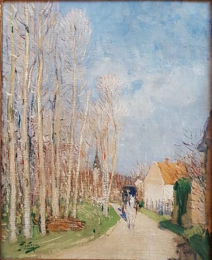 Pierre Eugène MONTEZIN - Pintura - L'entrée du village