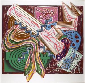 Frank STELLA - Estampe-Multiple - Then Came a Stick & Beat the Dog After Lissitzky's Hadgadya