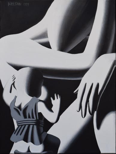 Mark KOSTABI - Peinture - Mother love
