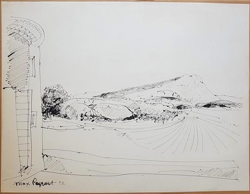 Max PAPART - Dessin-Aquarelle - La montagne Sainte-Victoire