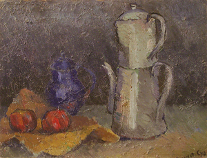 Georges Albert CYR - Painting - Nature morte à la cafetière