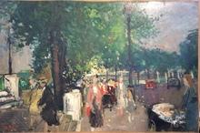 François GALL - Peinture - Les Quais de Paris près du Pont des Arts