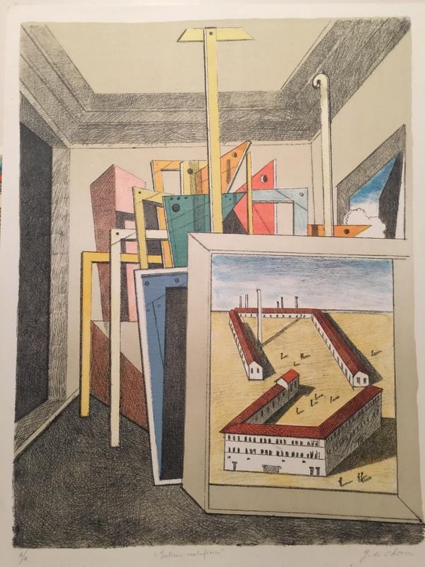 Giorgio DE CHIRICO - Stampa-Multiplo - Interno metafisico