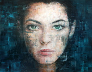 Harding MEYER - Painting - o.T. (18-2018)