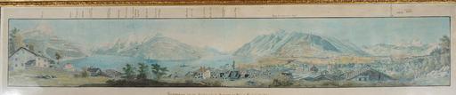 David Alois SCHMID - Drawing-Watercolor - Panorama  Lac des 4 Cantones
