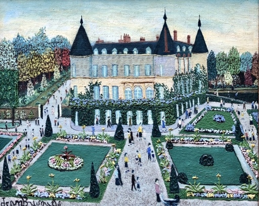Jean BUSQUETS - 绘画 - Le château de rambouillet