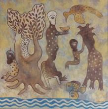 Manuel MENDIVE - Peinture - A La Orilla del Rio