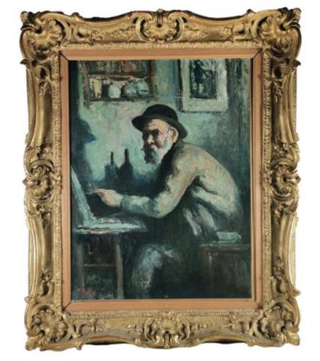 马克西米·卢斯 - 绘画 - Autoportrait au chevalet