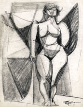 Romeo TABUENA - Dibujo Acuarela - Nude