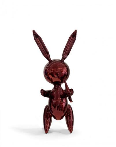 Jeff KOONS - Sculpture-Volume - Ballon Rabbit Red