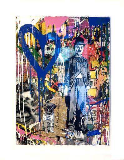 MR BRAINWASH - Gemälde - Chaplin