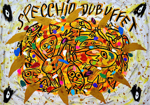 Bruno DONZELLI - Peinture - Specchio Dubuffet