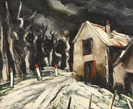 Maurice DE VLAMINCK - Gemälde - Paysage de neige