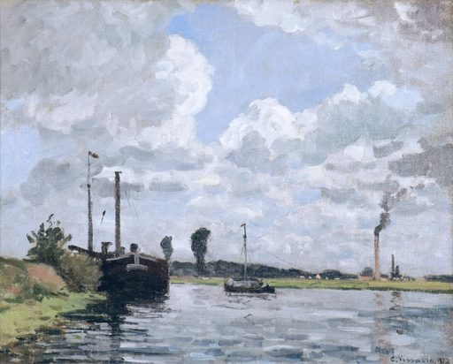 卡米耶•毕沙罗 - 绘画 - Bords de l'Oise, environs de Pontoise