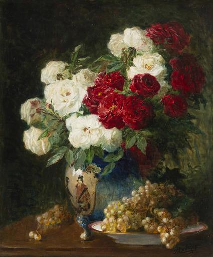 Pierre Eugène MONTEZIN - Peinture - Bouquet de fleurs