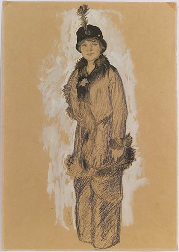 Hans STROHOFER - 水彩作品 - Young Lady, 1913, Art Nouveau
