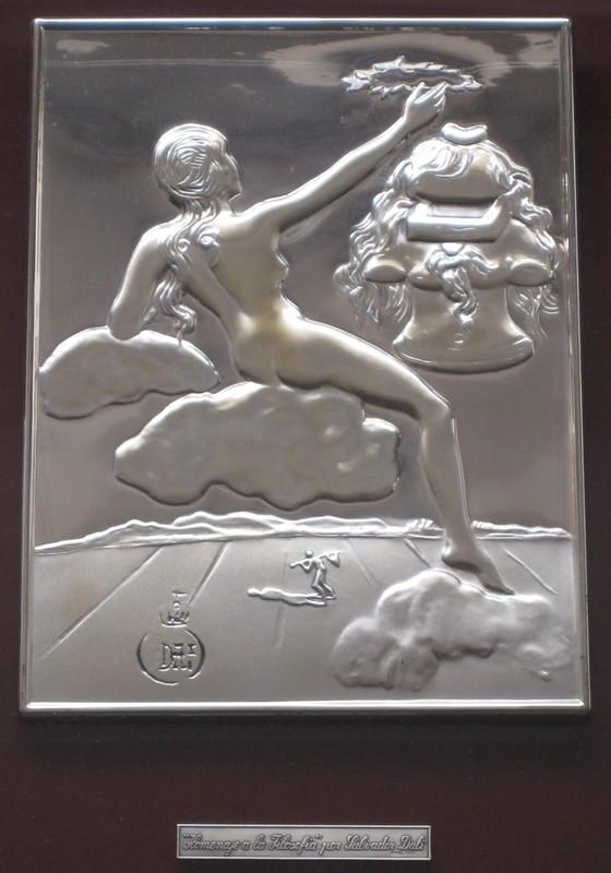Salvador DALI - Sculpture-Volume - BAS RELIEF EN ARGENT 925/1000 SIGNÉ 1977 SIGNED SILVER PLATE