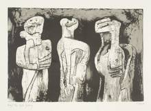 Henry MOORE - Stampa Multiplo - Three standing figures