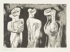 Henry MOORE - Print-Multiple - Three standing figures