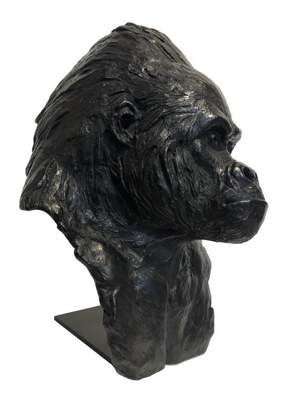 Pierre-Jean CHABERT - Sculpture-Volume - Tête de Gorille