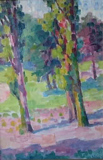 Fernand WERY - Pintura - landschap met bomen
