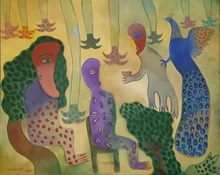 Manuel MENDIVE - Painting - El Pavo real