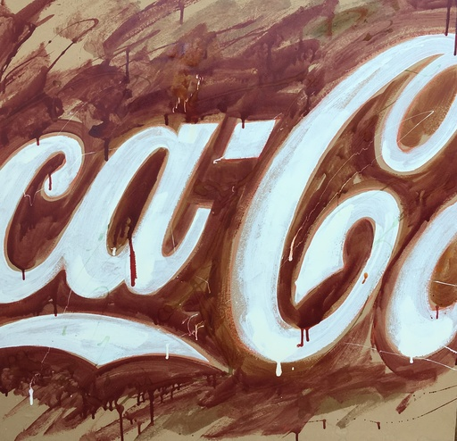 Mario SCHIFANO - Peinture - COCACOLA