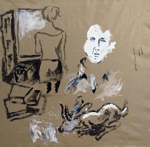 Manuel MONTERO - Peinture - Interior exil II