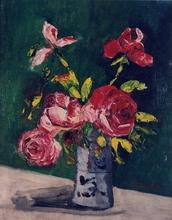 Élisée MACLET - Painting - Roses in a vase, 1919