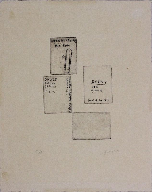 George BRECHT - Estampe-Multiple - Senza titolo