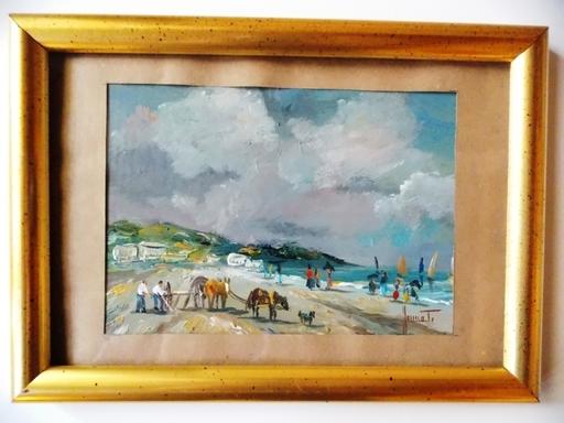 Jean-Louis HONNET - Painting - RETOUR DE PECHE